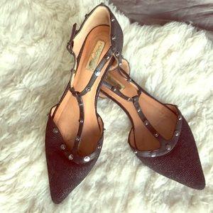 Halogen Shoes - Halogen Black Studded Pointed Toe Flats